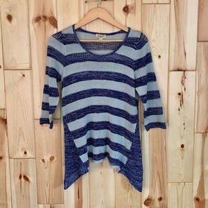 One World Blue Striped Sweater PL